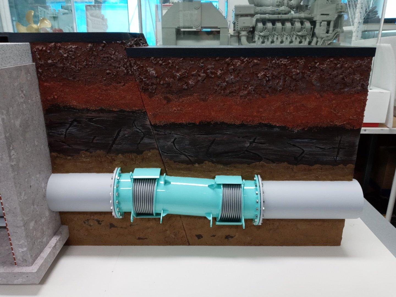 지하 상수도 파이프 전시 모형