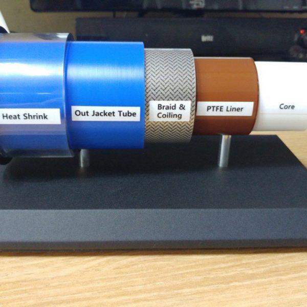 의료용 튜브 케이블 모형 제작 사례