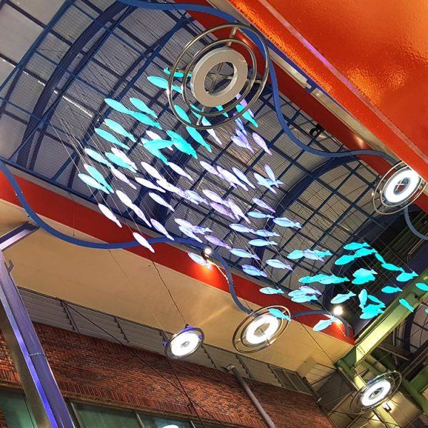 부산 깡통시장 LED 물고기 조명